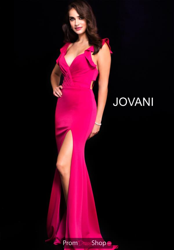 Jovani V- Neckline Long Dress 59708