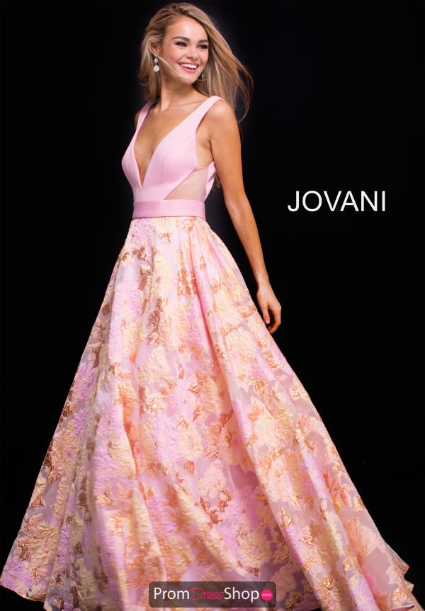 Jovani V- Neckline A Line Dress 59799