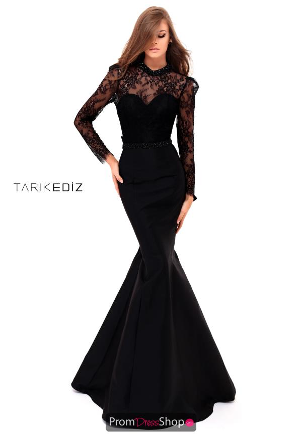 Tarik Ediz Sleeved Fitted Dress 50227