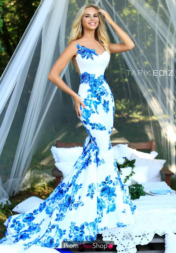 Tarik Ediz Long Print Dress 50228