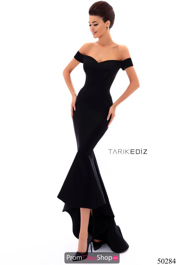 Tarik Ediz Fitted Long Dress 50284