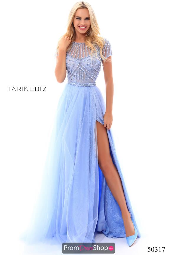 Tarik Ediz Long Beaded Dress 50317