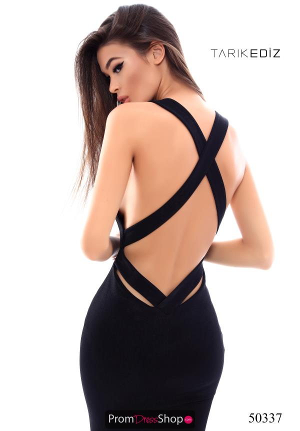 Tarik Ediz Sexy Open Back Dress 50337