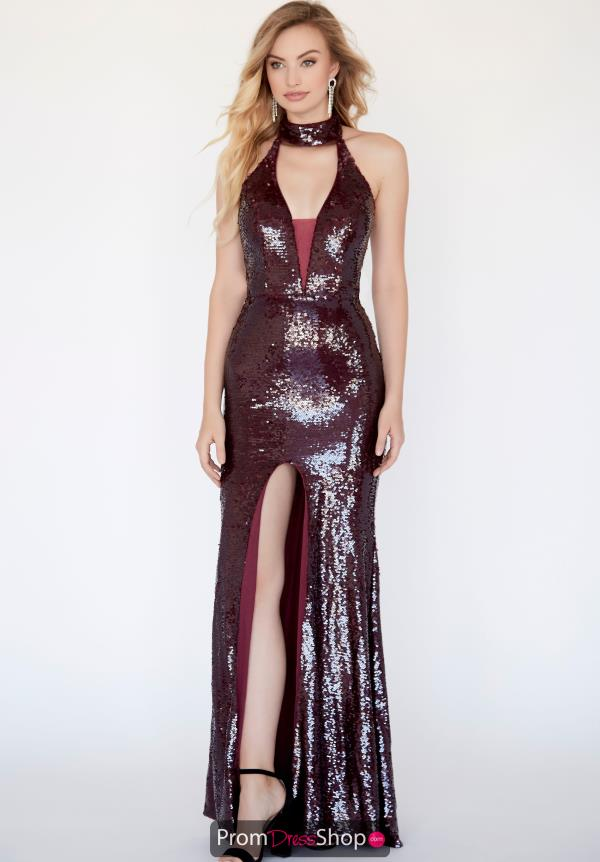 Jolene Halter Long Dress 18089