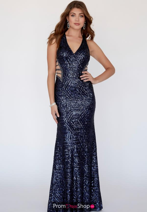 Jolene Sequined V Neckline Dress 18101