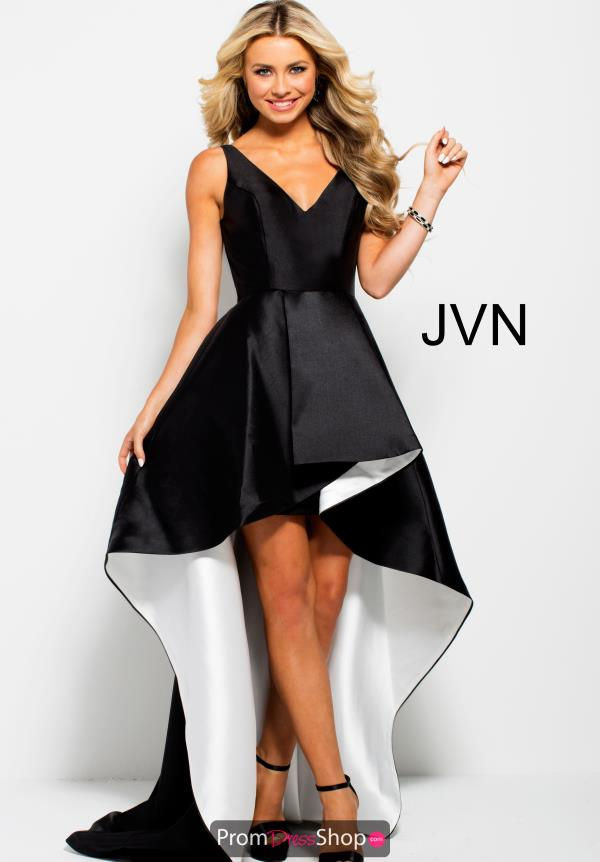 JVN by Jovani Long High Low Dress JVN43016