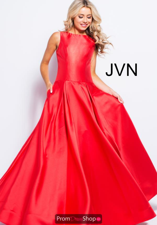JVN by Jovani Long A Line Dress JVN46004