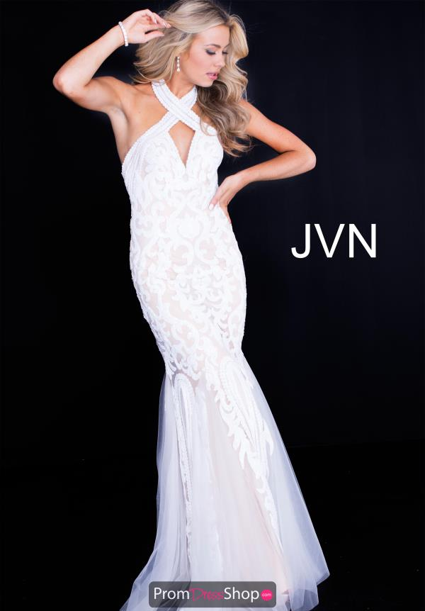 JVN by Jovani Halter Top Mermaid Dress JVN53216