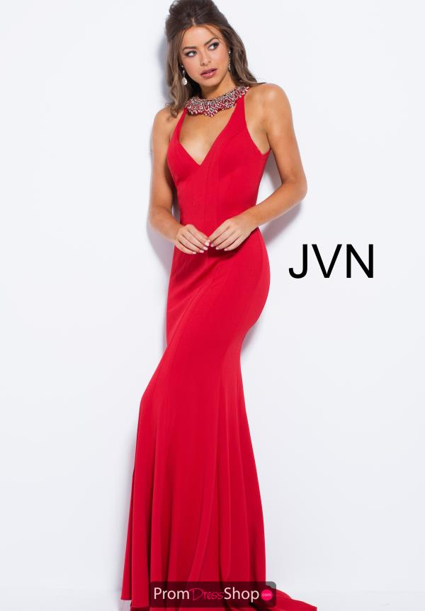 JVN by Jovani V- Neckline Fitted Dress JVN53349