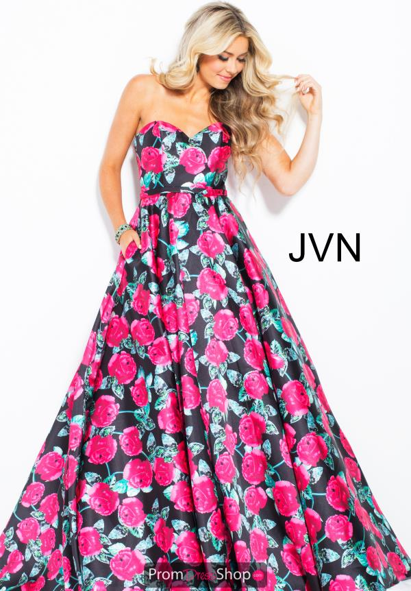 JVN by Jovani Strapless Print Dress JVN57446