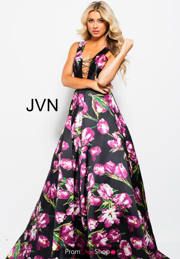 JVN by Jovani Print A Line Dress JVN58389