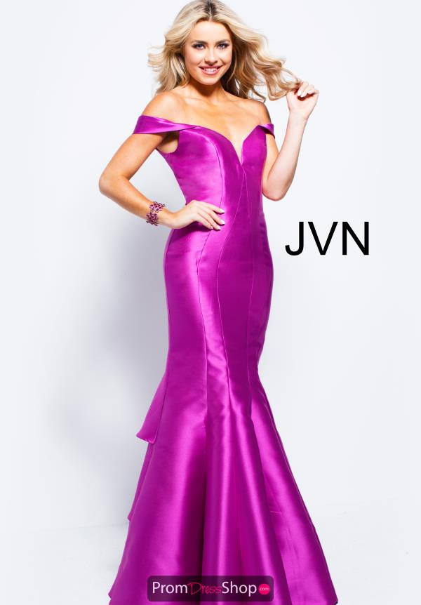JVN by Jovani Cap Sleeved Taffeta Dress JVN59261