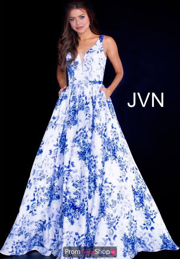JVN by Jovani Print A Line Dress JVN60561