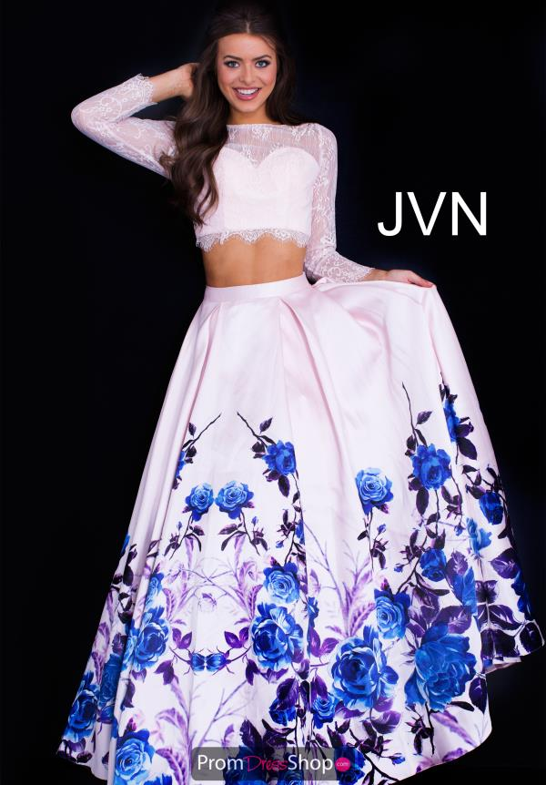 JVN by Jovani Print A Line Dress JVN50010