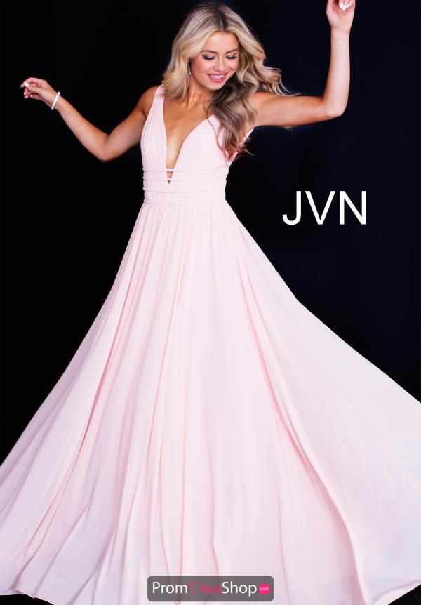 JVN by Jovani V- Neckline A Line Dress JVN52179