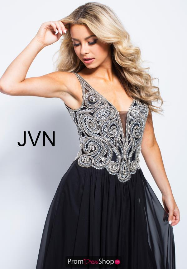 JVN by Jovani Chiffon A Line Dress JVN53126