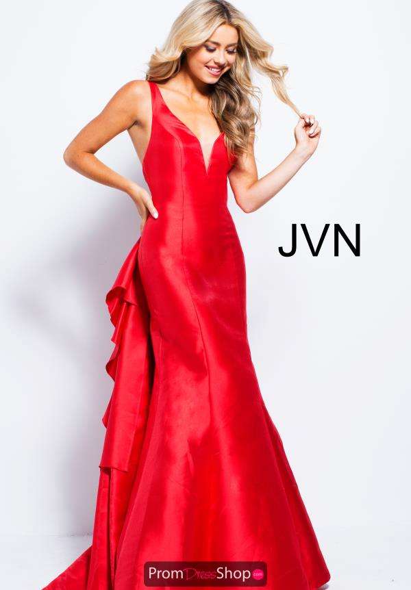 JVN by Jovani V- Neckline Fitted Dress JVN53186