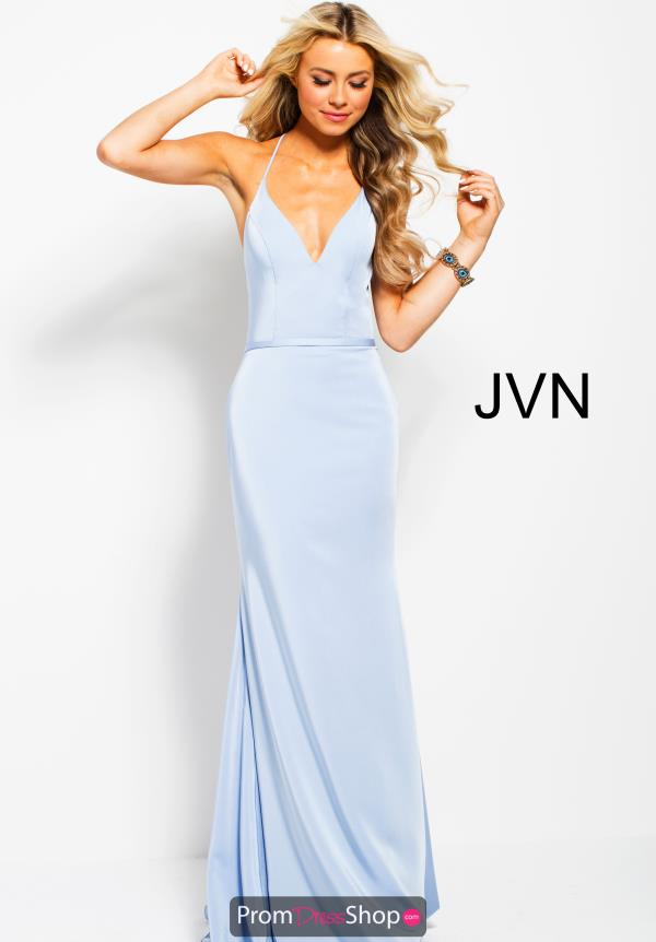 JVN by Jovani V- Neckline Fitted Dress JVN55642