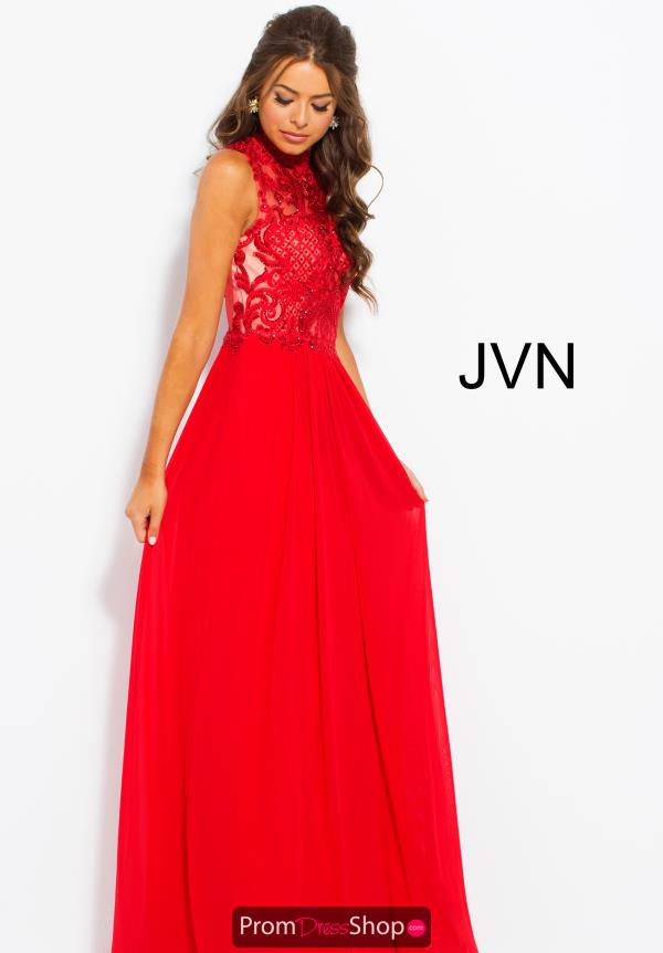 JVN by Jovani High Neckline Beaded Dress JVN55872