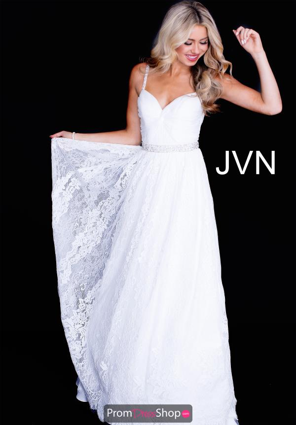 JVN by Jovani Lace A Line Dress JVN58005