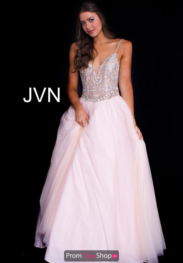 JVN by Jovani Tulle Skirt A Line Dress JVN58071
