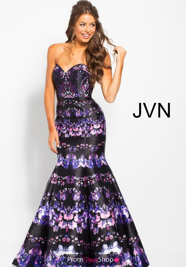 JVN by Jovani Black Mermaid Dress JVN58400