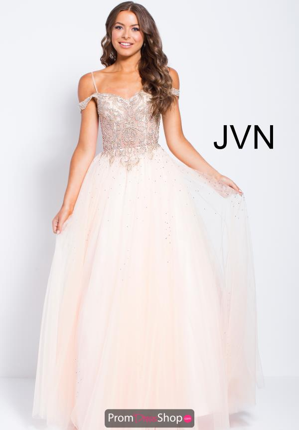 JVN by Jovani Beaded A Line Dress JVN58403