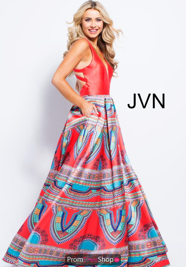 JVN by Jovani Long Red Dress JVN58590