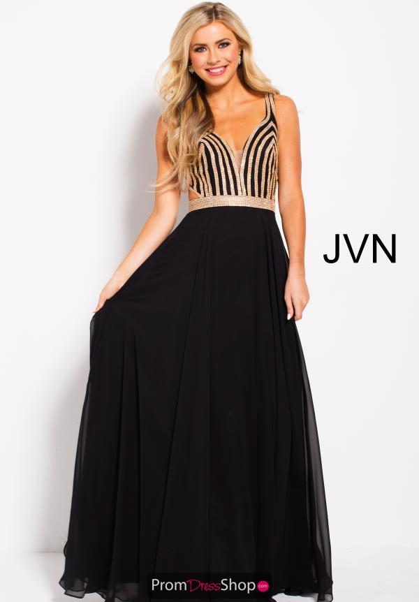 JVN by Jovani Long A Line Dress JVN59048