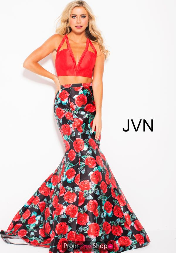 JVN by Jovani Two Piece Print Dress JVN59990