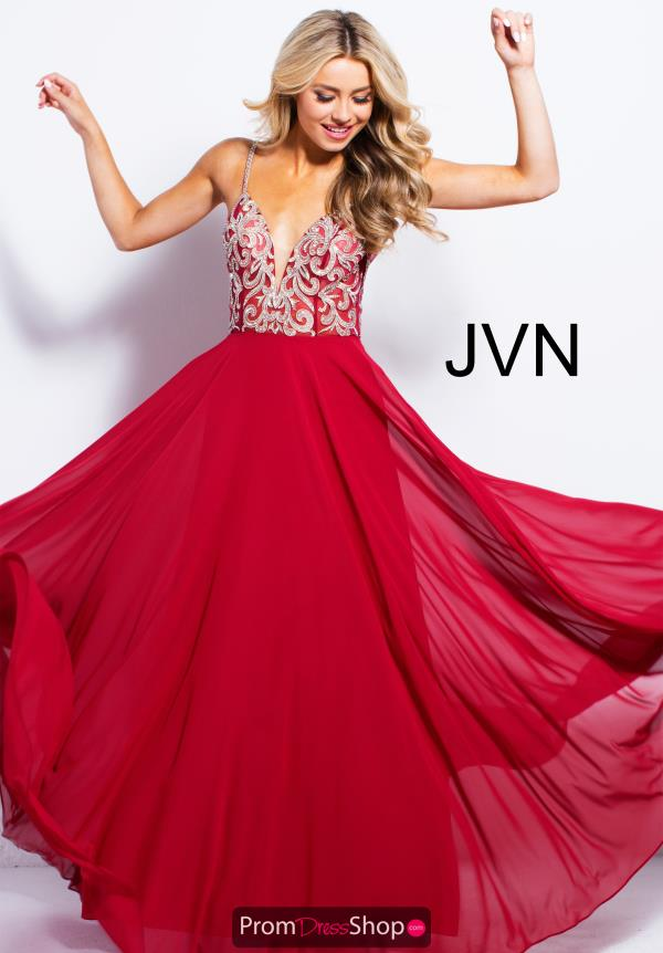 JVN by Jovani Long Chiffon Dress JVN60206