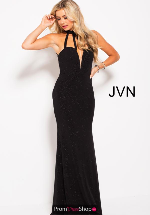 JVN by Jovani Fitted Black Dress JVN60600