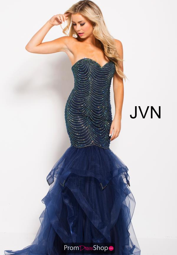 JVN by Jovani Navy Mermaid Dress JVN60604