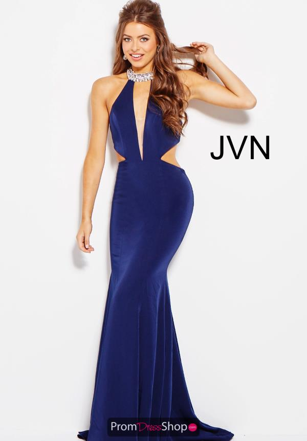JVN by Jovani Plunging Neckline Fitted Dress JVN60948