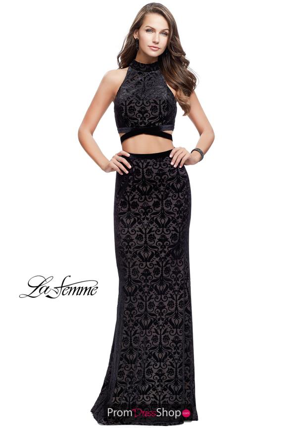 La Femme Two Piece Fitted Dress 25589