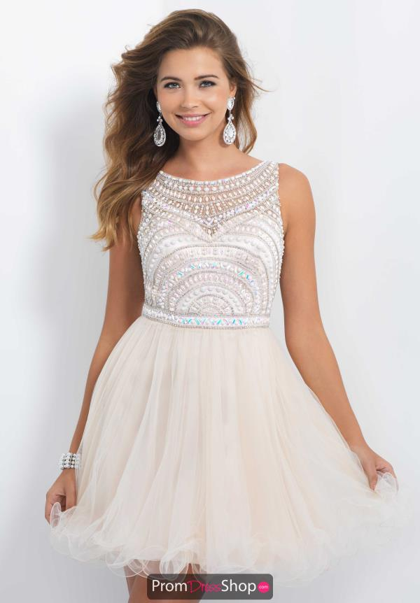 Beaded A line Dress by Blush style X264