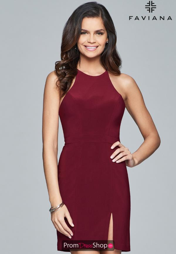 Faviana Halter Top Short Dress 8053