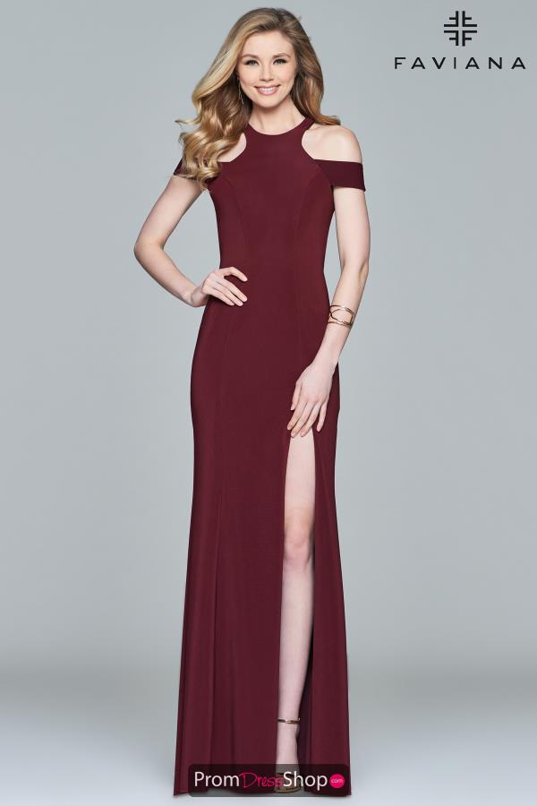 Faviana Long Fitted Dress 8086