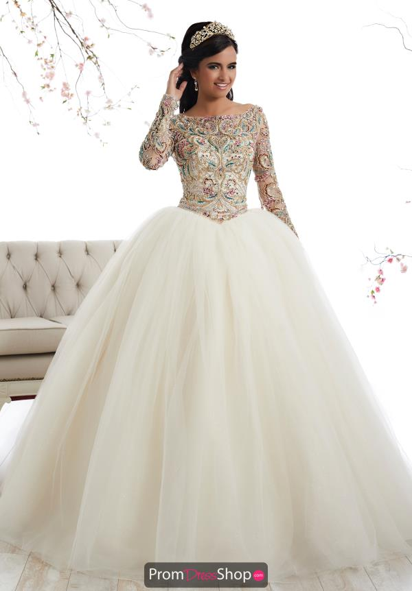 Tiffany Quinceanera Long Sleeved Beaded Gown 26875