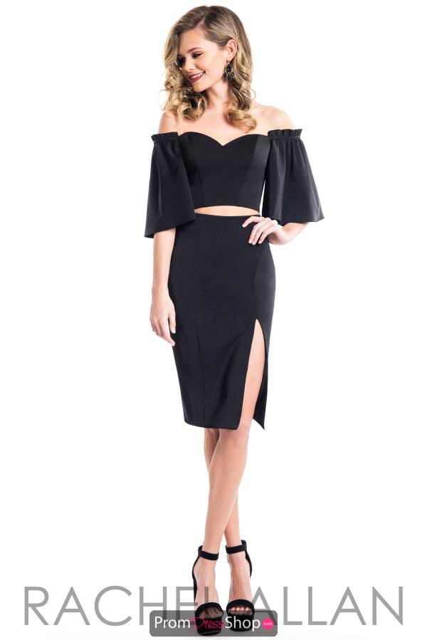 Rachel Allan Off the Shoulder Dress L1085