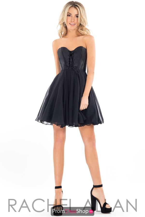 Rachel Allan Chiffon Short Dress L1102
