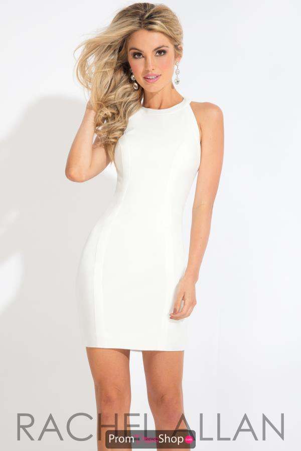 Rachel Allan High Neckline Short Dress L1119