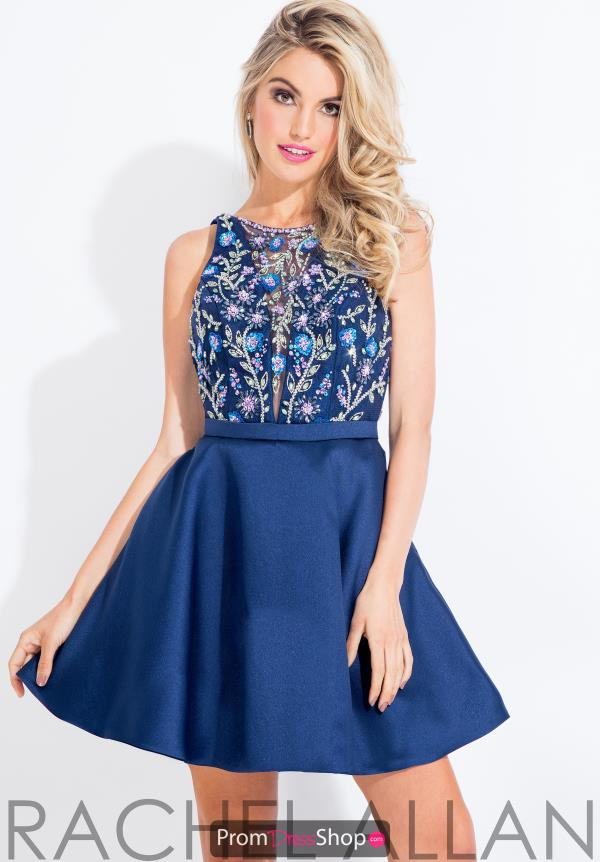 Rachel Allan Beaded Short Dress 4481