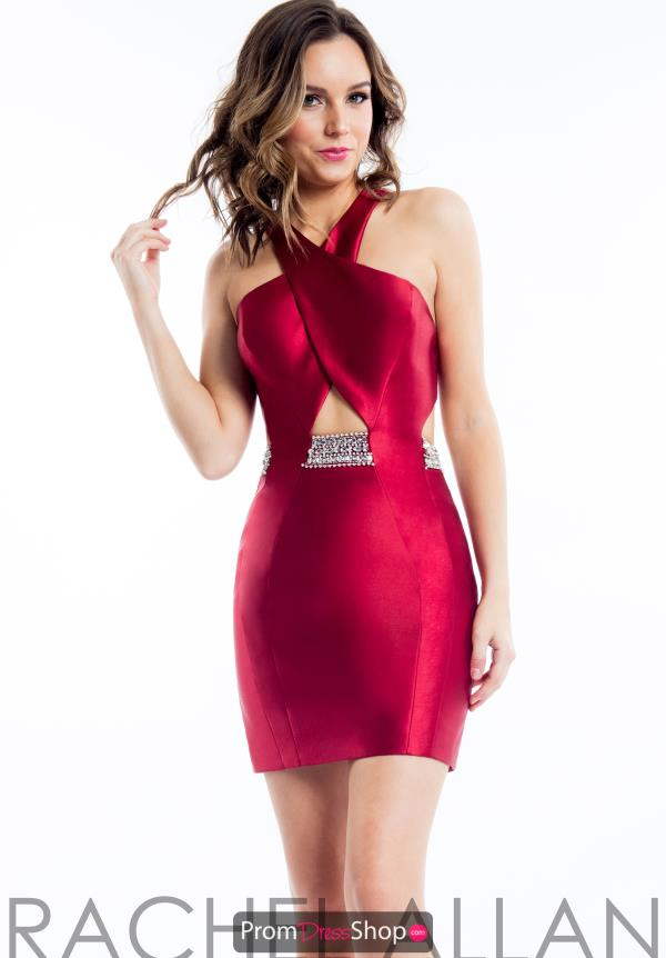 Rachel Allan Fitted Short Dress 4498