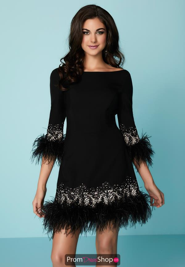 Hannah S Sleeved Short Dress 27142