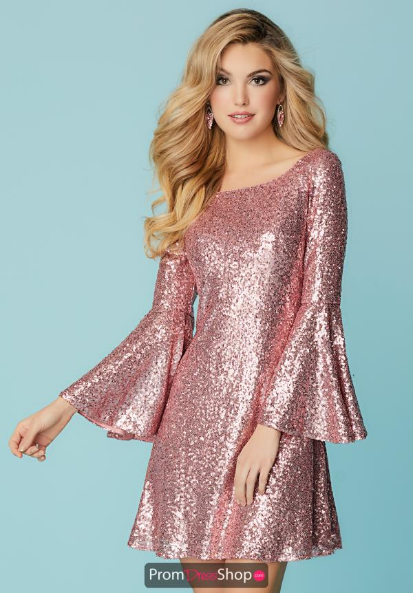 Hannah S Sequins Short Dress 27153