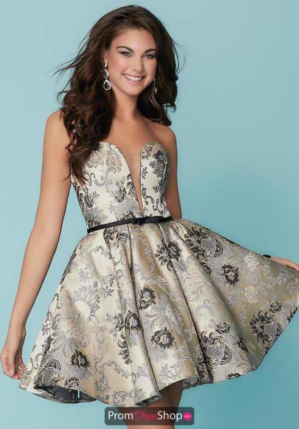 Hannah S Short Strapless Dress 27168