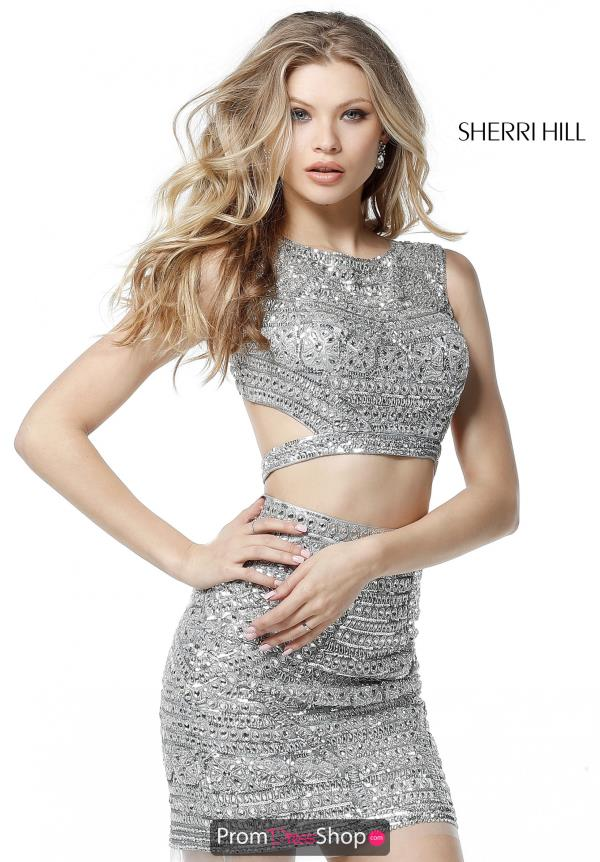 Sherri Hill Short Sexy Back Fitted Dress 51281