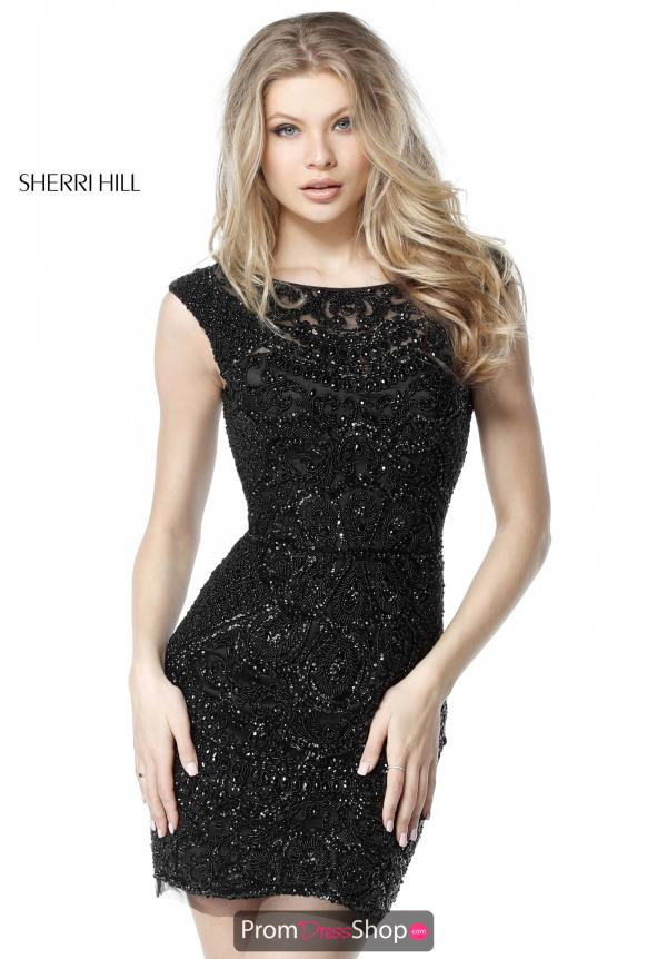 Sherri Hill Short Open Back Fitted Dress 51286