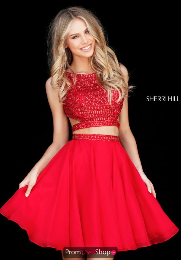 Sherri Hill Short Two Piece Beaded Dress 51295